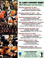 St. Luke's Concert Series 2017-2018 Season